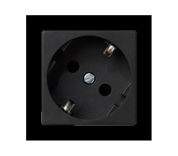 Gniazdo wtyczkowe pojedyncze K45 SCHUKO 16A 250V zaciski śrubowe 45×45mm szary grafit K01/14