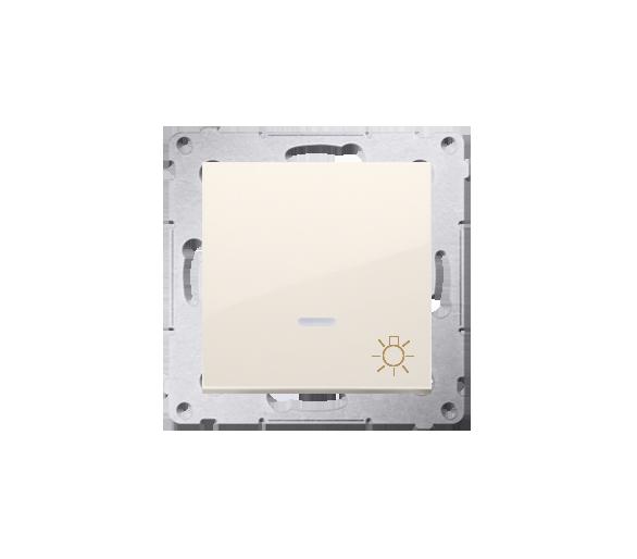 """Przycisk """"światło"""" z podświetleniem LED (moduł) 16AX 250V, zaciski śrubowe, kremowy DS1AL.01/41"""