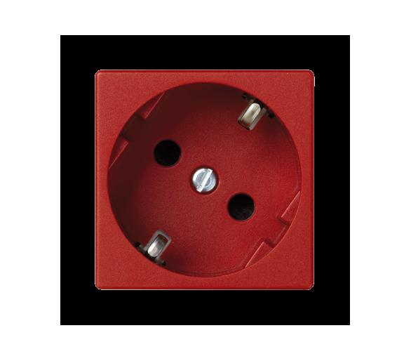 Gniazdo wtyczkowe pojedyncze K45 SCHUKO 16A 250V zaciski śrubowe 45×45mm czerwony K01/6