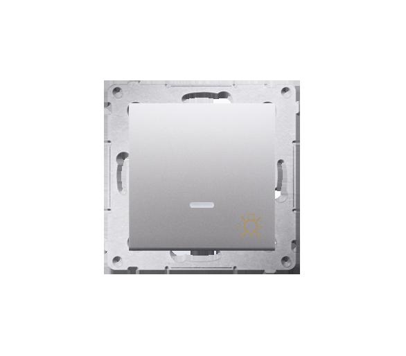 """Przycisk """"światło"""" z podświetleniem LED (moduł) 16AX 250V, zaciski śrubowe, srebrny mat, metalizowany DS1AL.01/43"""