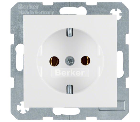B.X/S.1 Gniazdo SCHUKO z uz. biały Berker 47438989