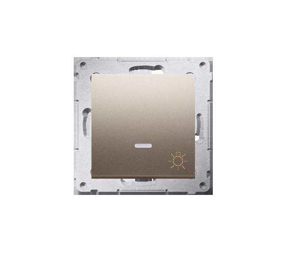 """Przycisk """"światło"""" z podświetleniem LED (moduł) 16AX 250V, zaciski śrubowe, złoty mat, metalizowany DS1AL.01/44"""