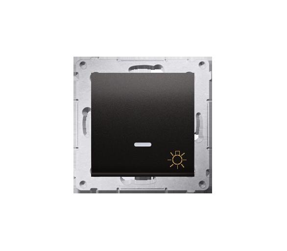 """Przycisk """"światło"""" z podświetleniem LED (moduł) 16AX 250V, zaciski śrubowe, antracyt, metalizowany DS1AL.01/48"""