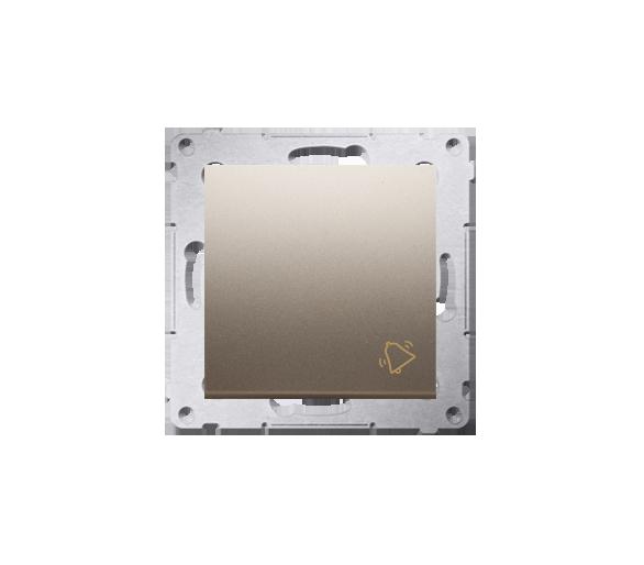 """Przycisk """"dzwonek"""" (moduł) 16AX 250V, zaciski śrubowe, złoty mat, metalizowany DD1A.01/44"""