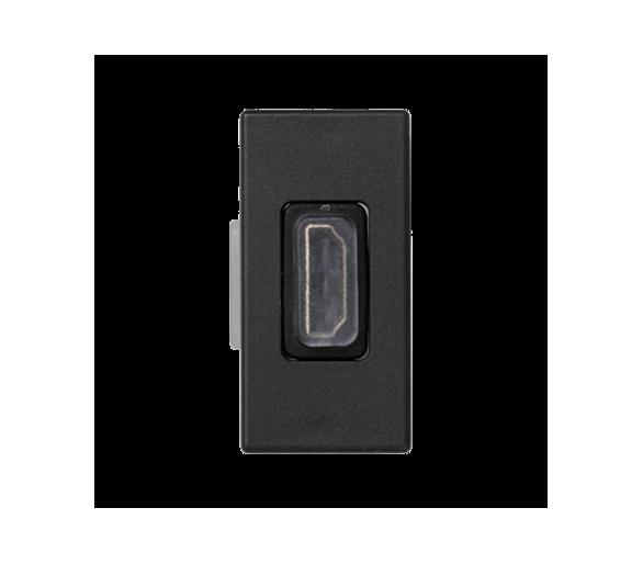 Płytka K45 adapter HDMI-HDMI 45×22,5mm szary grafit K129B/14