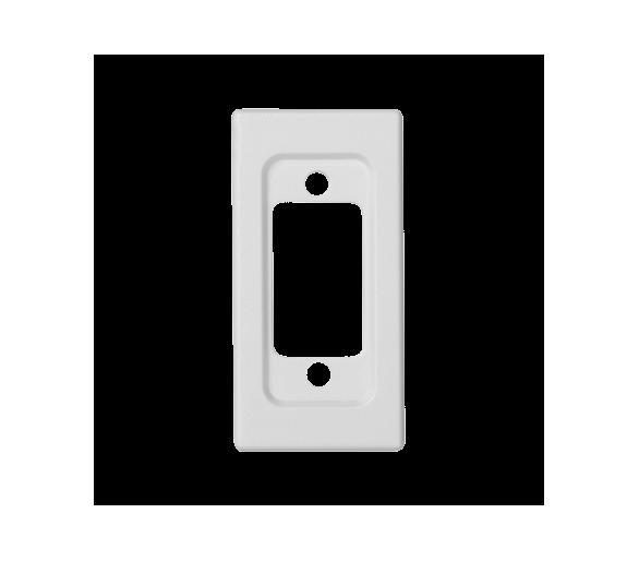 Płytka K45 pusta do złącza VGA (D-SUB 15) 45×22,5mm czysta biel K100/9