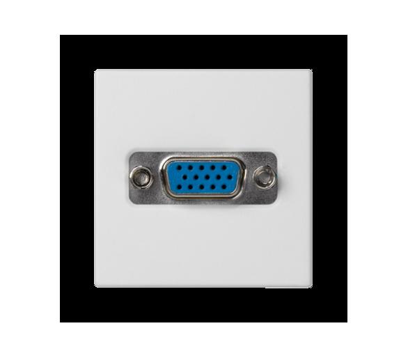 Płytka K45 złącze VGA (D-SUB 15) 45×45mm czysta biel K100B/9