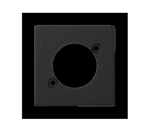 Płytka K45 pusta do złącza XLR 45×45mm szary grafit K122/14