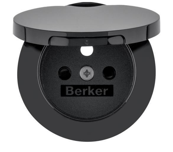 R.1/R.3 Płytka czołowa do gn. z uz. i pokrywą cz Berker 3965832045