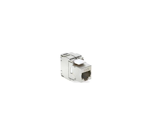 Wkład gniazda komputerowego RJ45 kat.6A, ekranowany (STP) stal nierdzewna LRJ456AEKR