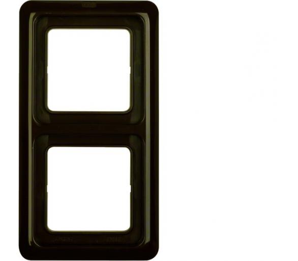 IP44 Ramka 2-krotna z uszczelką, brązowy, p/t Berker 132901