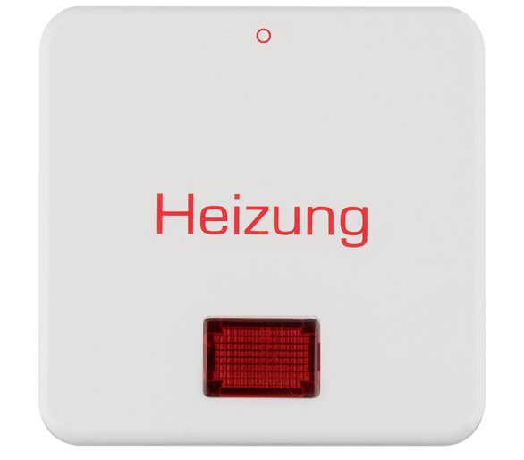 """Berker IP44 Klawisz z soczewką i nadrukiem """"Heizung"""" i """"0"""", biały połysk Berker 156919"""