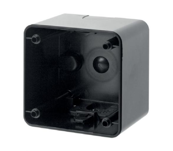 Integro Puszka natynkowa 1-krotna wysoka, czarny, połysk Berker 9115105