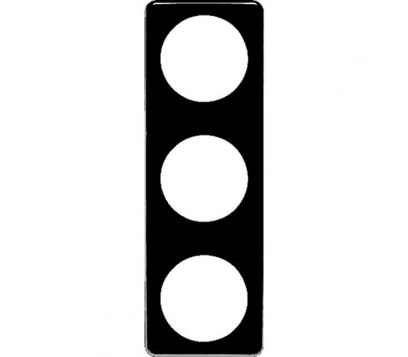 Integro Ramka 3-krotna, czarny, mat Berker 9181915