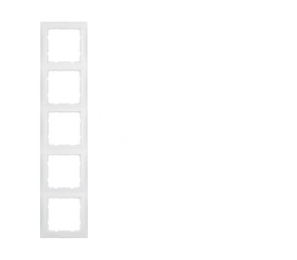 S.1 Ramka 5-krotna, biały, mat Berker 10159909