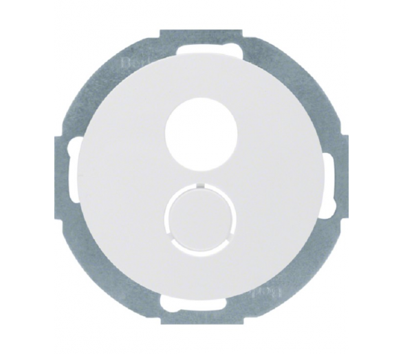 R.classic Płytka czołowa do gniazda głośnikowego biały Berker 11962079