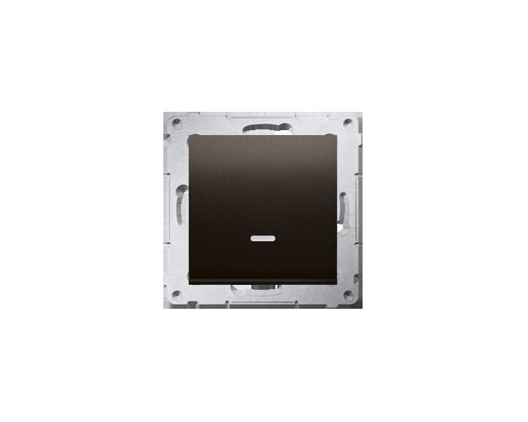 Łącznik jednobiegunowy z sygnalizacją załączenia LED (moduł) 10AX 250V, szybkozłącza, brąz mat, metalizowany DW1ZL.01/46