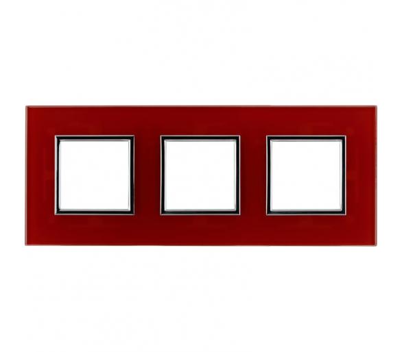 Ramka podwójna czerwone szkło DANTE 4510183