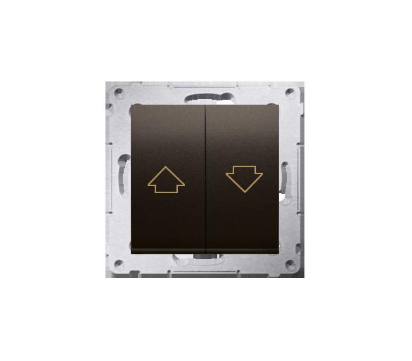 Przycisk żaluzjowy pojedynczy brąz mat, metalizowany 10A DZP1.01/46