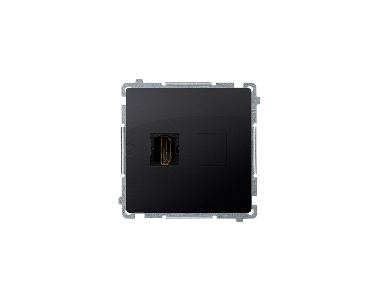 Gniazdo HDMI pojedyncze grafit mat, metalizowany BMGHDMI.01/28