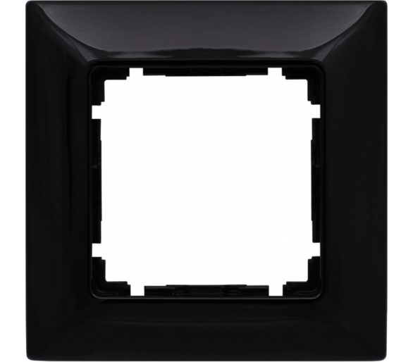 Ramka 1x czarny fortepian VENA METAL 5190281