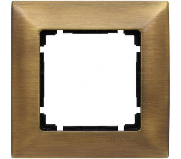 Ramka 1x mosiądz rustykalny VENA METAL 5153281