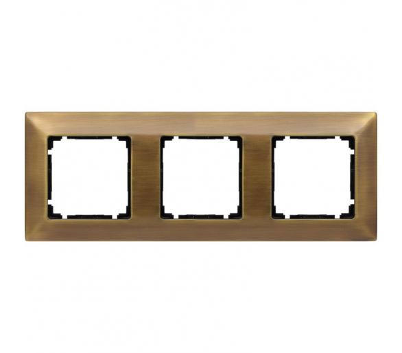 Ramka 3x mosiądz rustykalny VENA METAL 5153283