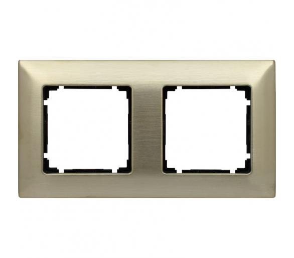 Ramka 2x nowe srebro VENA METAL 5180282