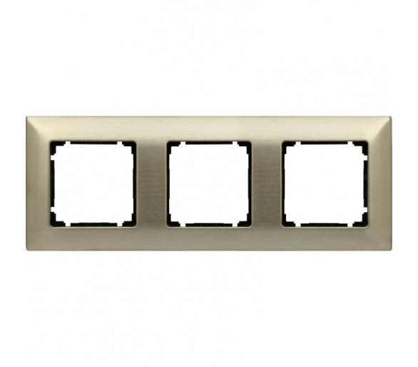 Ramka 3x nowe srebro VENA METAL 5180283