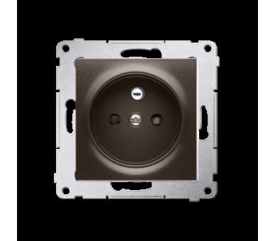Gniazdo wtyczkowe pojedyncze z uziemieniem z przesłonami torów prądowych do ramek Nature do ramek Premium (moduł) 16A 250V, szyb