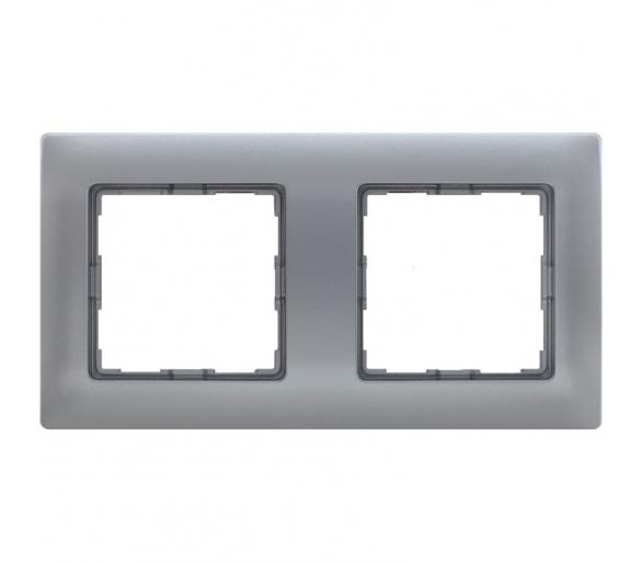 Ramka 2x aluminium VENA 514082