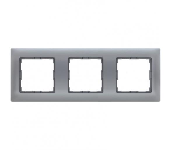 Ramka 3x aluminium VENA 514083