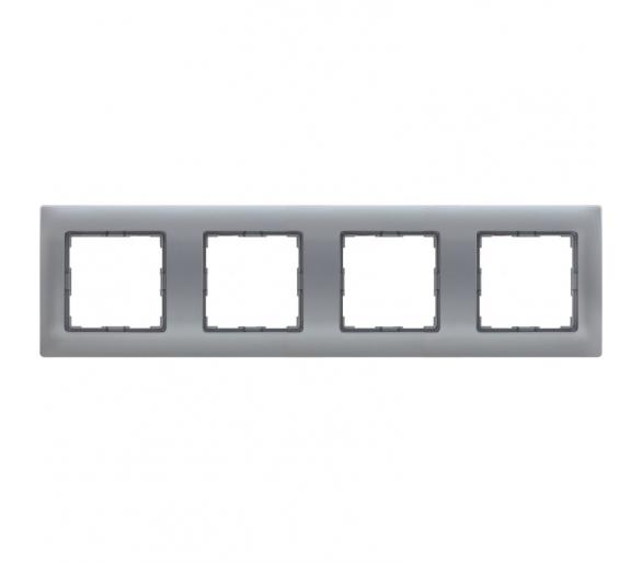 Ramka 4x aluminium VENA 514084