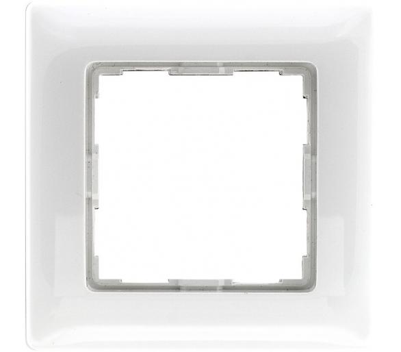 Ramka 1x śnieżna biel VENA 510281