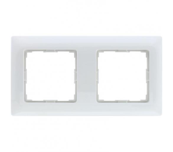 Ramka 2x śnieżna biel VENA 510282