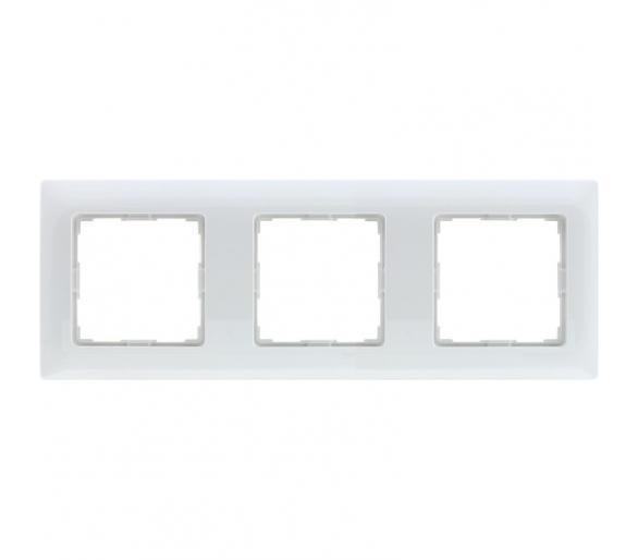 Ramka 3x śnieżna biel VENA 510283