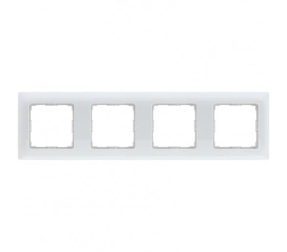 Ramka 4x śnieżna biel VENA 510284