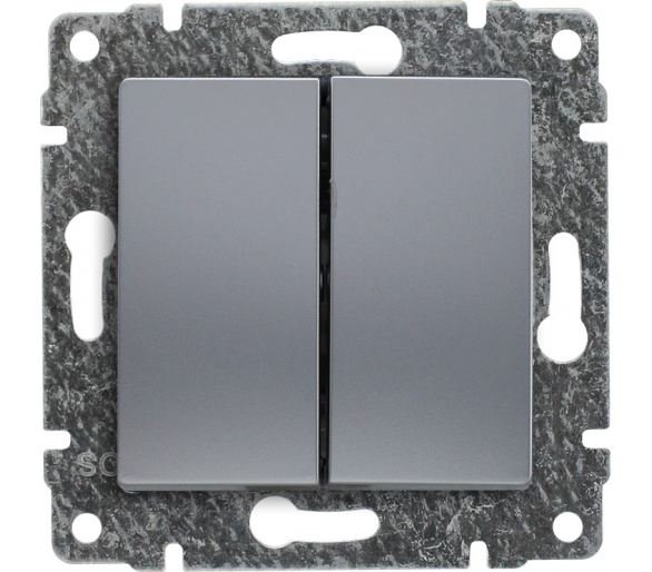 Łącznik świecznikowy z klawiszem, bez ramki aluminium VENA 514015