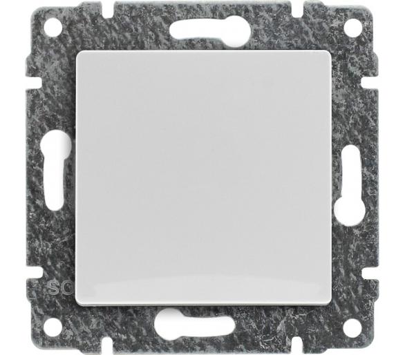Łącznik pojedynczy z klawiszem, bez ramki biały VENA 510411