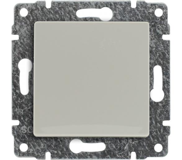 Łącznik pojedynczy z klawiszem, bez ramki kremowy VENA 510311
