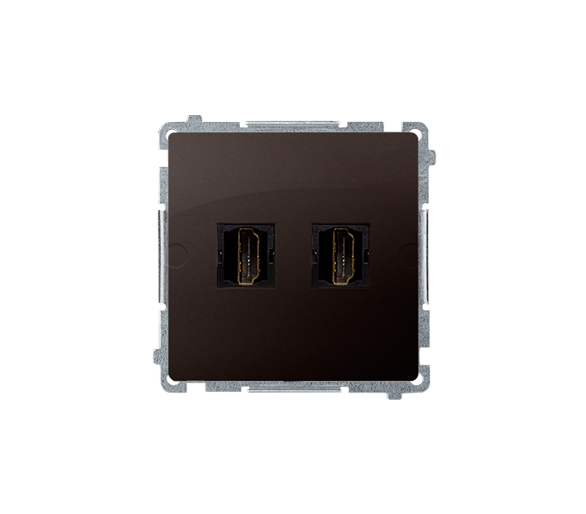 Gniazdo HDMI podwójne czekoladowy mat, metalizowany BMGHDMI2.01/47