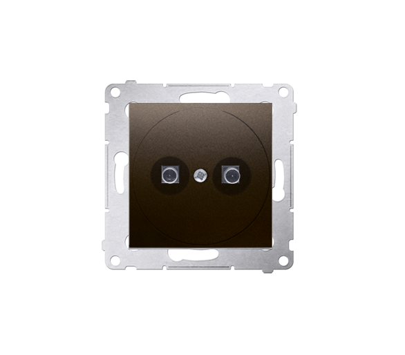 Gniazdo ekwipotencjalne do ramek Nature do ramek Premium (moduł) zaciski śrubowe 2.5, 4, 6 mm2, brąz mat, metalizowany DGE1.02/4