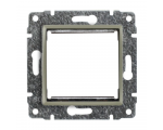 Uchwyt do instalacji modułów 45x45 z redukcją ramki satyna VENA 515045