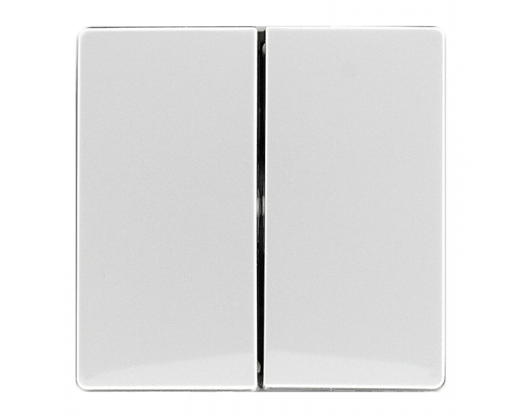 Klawisz podwójny śnieżna biel VENA 510225