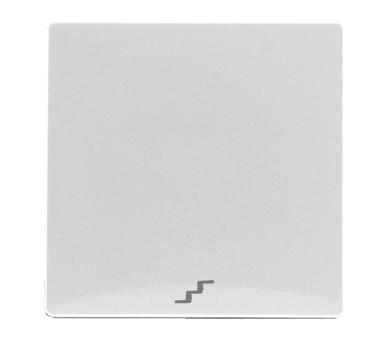 """Klawisz pojedynczy z piktogramem """"schody"""" śnieżna biel VENA 510226"""