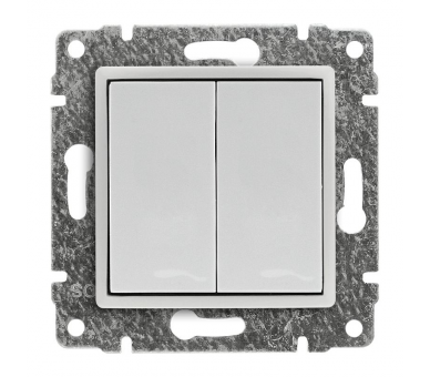 Zaślepka modułowa (2szt. 22,5mmx45mm) śnieżna biel VENA 510280