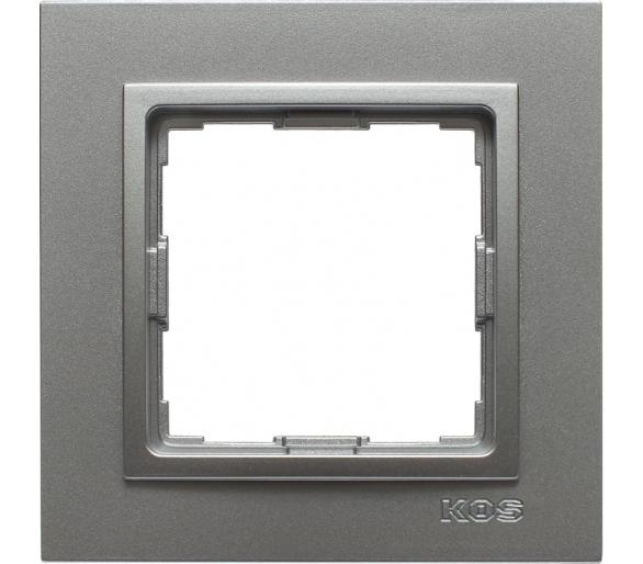 Ramka 1x aluminium VENA2 524081