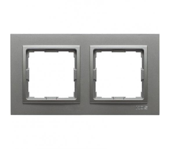 Ramka 2x aluminium VENA2 524082