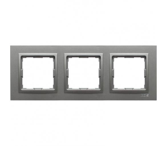 Ramka 3x aluminium VENA2 524083