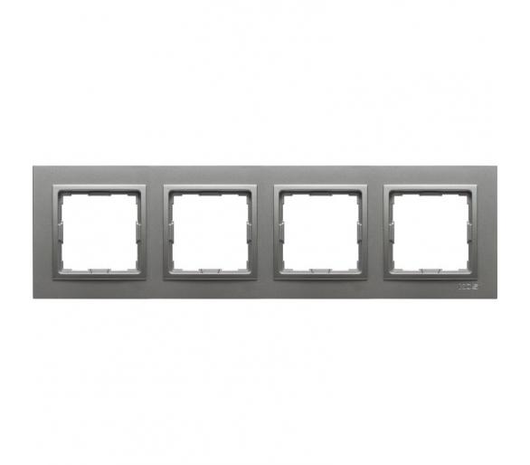 Ramka 4x aluminium VENA2 524084